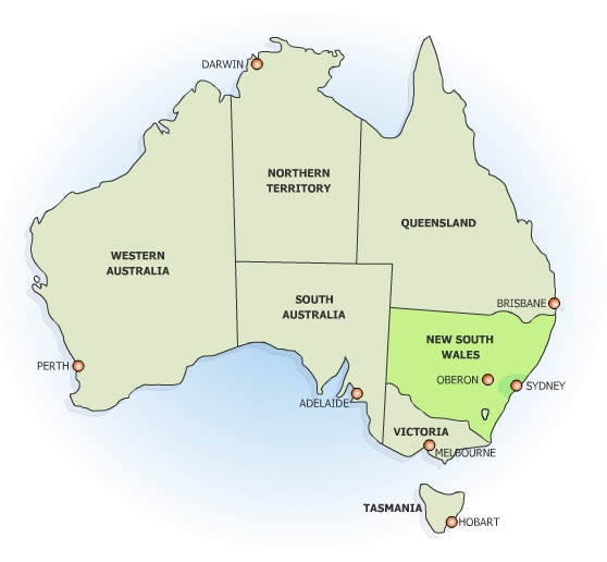 Oberon Australia Map Oberon Australia – Map of Austrlia