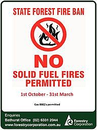 No Solid Fuel Fires - 1st October - 31st March